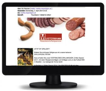 """Mit """"Die Fleischer"""" erstellen Sie Newsletter und senden sie kostenlos an Ihre Kunden"""